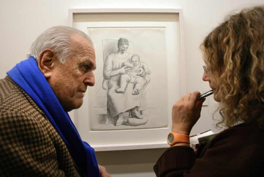 John Richardson speaking to a journalists during a Picasso press preview at Sabanci Museum in Emirgan, Istanbul in 2005.