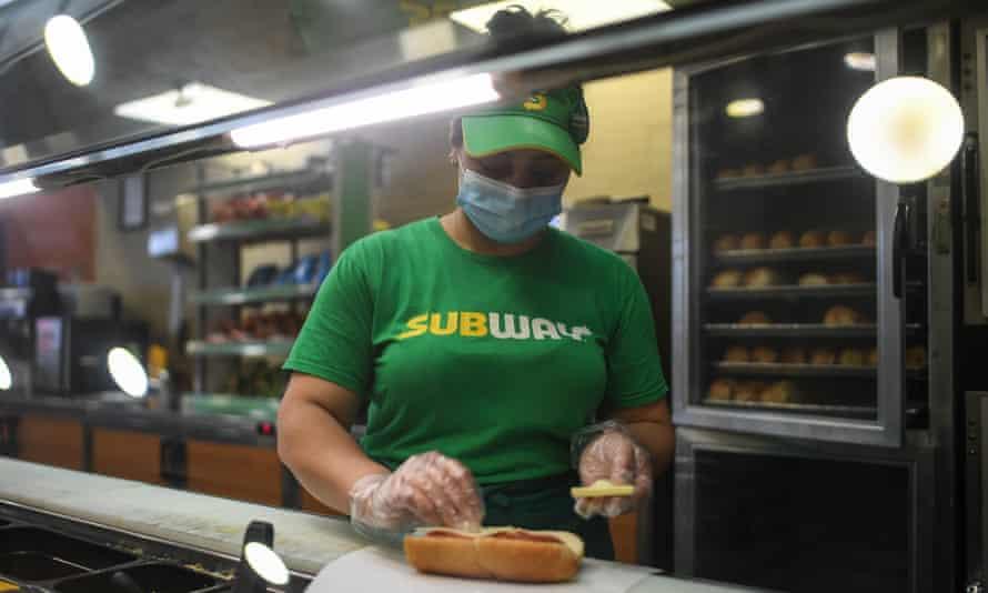 Subway worker