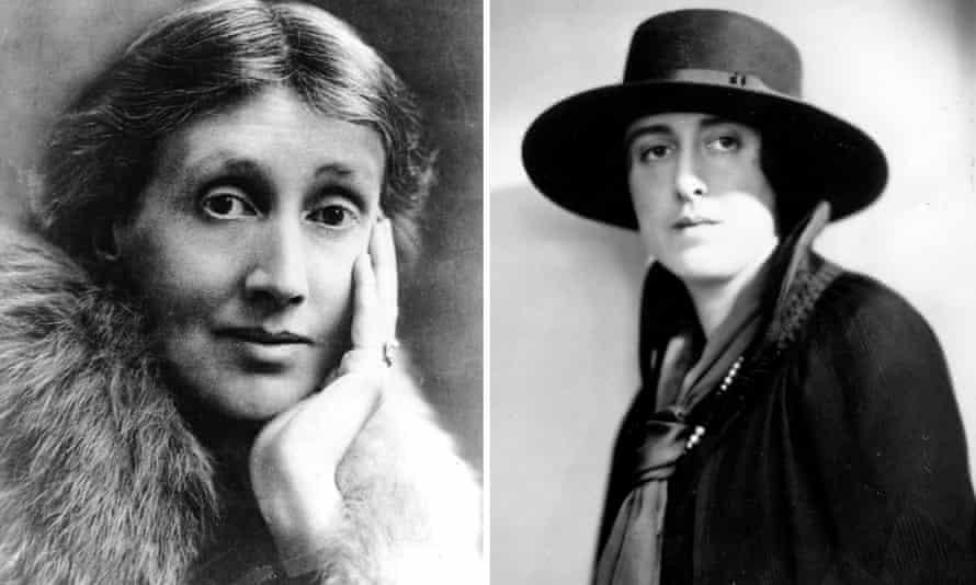 Virginia Woolf, left and Vita Sackville-West.