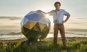 Rocket Lab founder and CEO, Peter Beck. is pictured with his Humanity Star in Auckland, New Zealand.