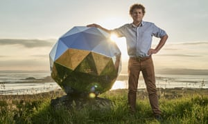 Peter Beck, of Rocket Lab, with the Humanity Star