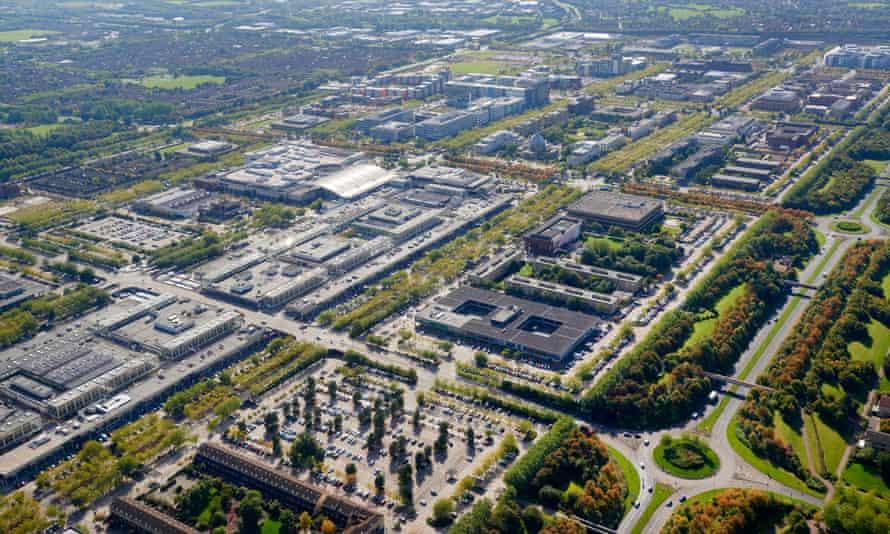 An aerial view of Milton Keynes
