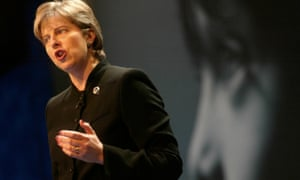 Theresa May during her speech at the Conservative party conference in 2002.