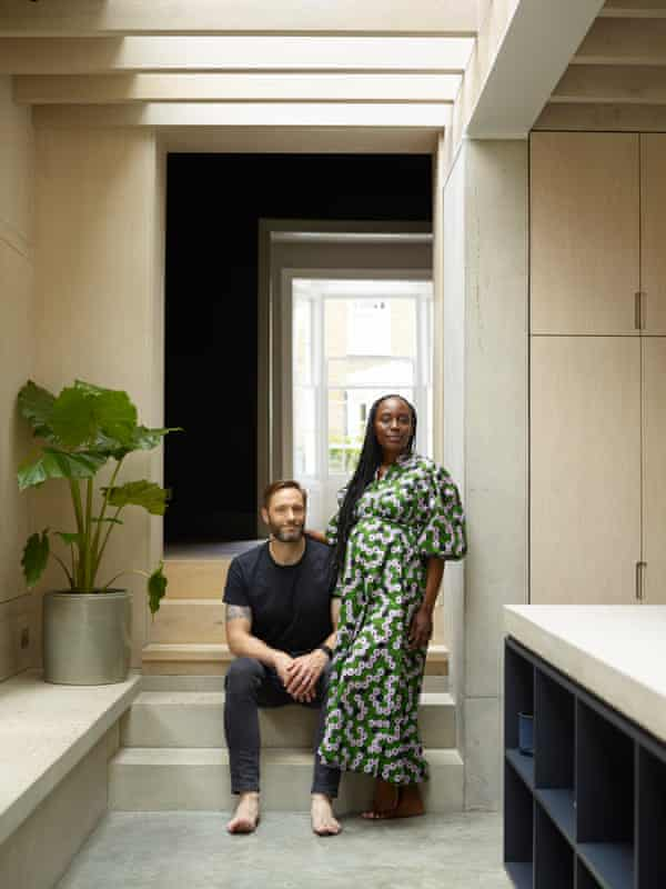 Room to grow: Rebecca and Roman in their zen-like home.