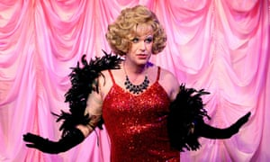 Barnstorming theatrical ringmaster … Hodge as Albin in La Cage aux Folles.