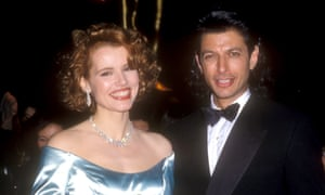 With then husband Jeff Goldblum in 1989.