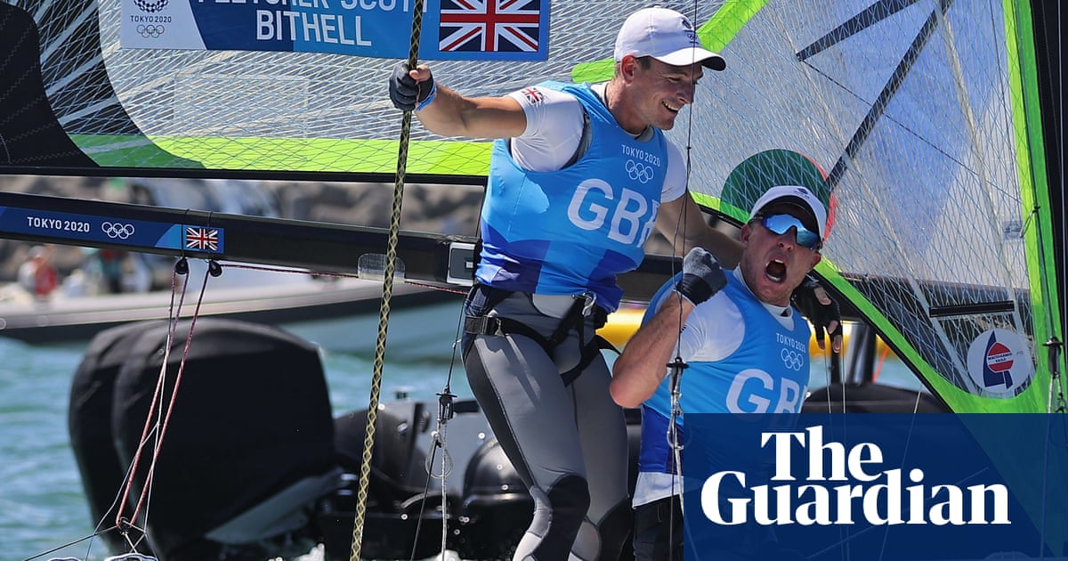 Team GB's sailing super Tuesday starts with dramatic gold for men's 49er pair