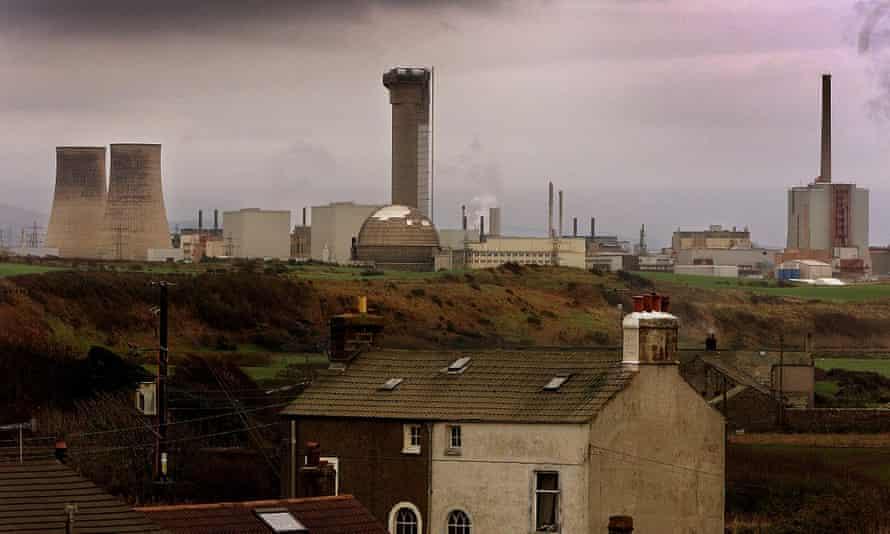 Sellafield power plant near Seascale in Cumbria, north of England.