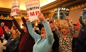 Donald Trump presidential campaigning in St Louis, Missouri, America - 11 Mar 2016Mandatory Credit: Photo by David Carson/St. Louis Post-/REX/Shutterstock (5612859b) Trump supporters cheer during of his campaign rally at the Peabody Opera House Donald Trump presidential campaigning in St Louis, Missouri, America - 11 Mar 2016