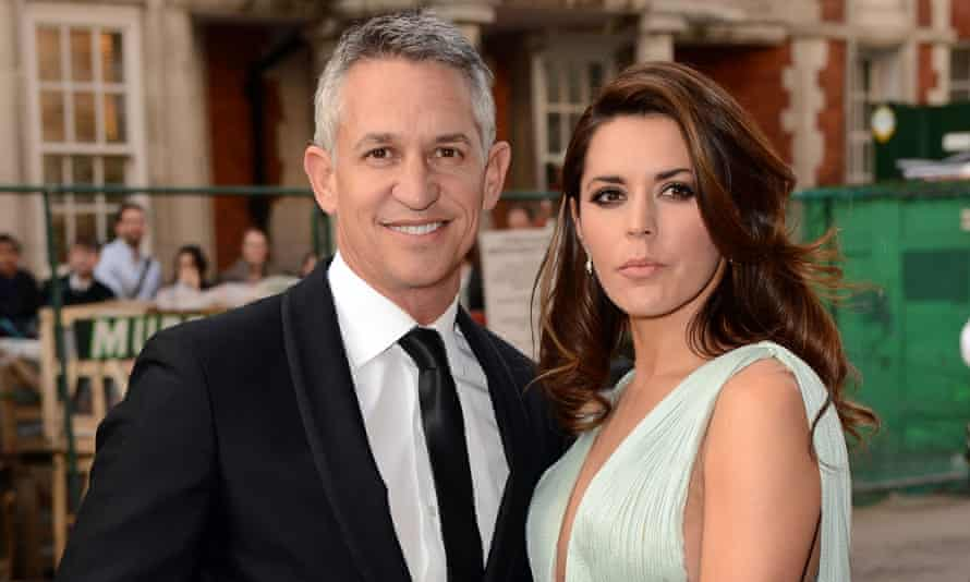 Gary Lineker with his ex-wife Danielle Bux.