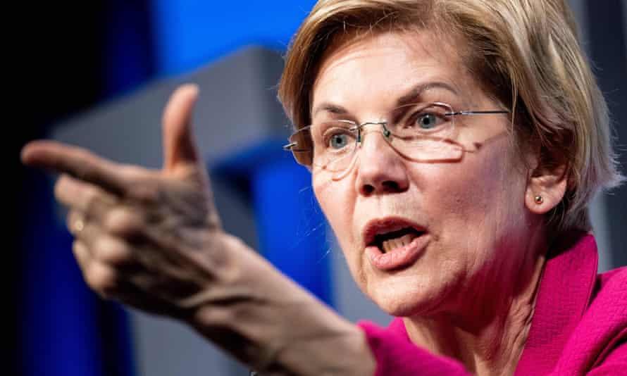 Elizabeth Warren speaks during the We The People summit in Washington DC