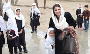 Zakia Wardak visits a girls' school in Kandahar