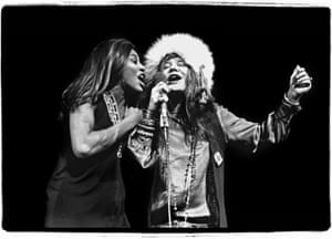 Tina Turner and Janis Joplin at Madison Square Garden, November 27, 1969.