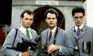 Bill Murray, Dan Aykroyd and Harold Ramis in the 1984 Ghostbusters.