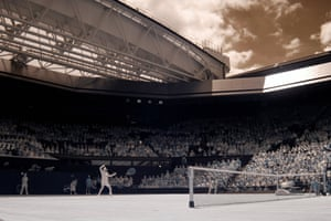Andy Murray during his defeat to Sam Querrey on Centre Court