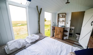 One of the shepherd's huts at Elmley.