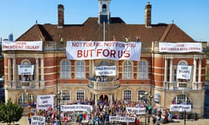 The countdown to reopening the grand hall begins as Battersea Arts Centre offers a message to Donald Trump and a sneak preview.