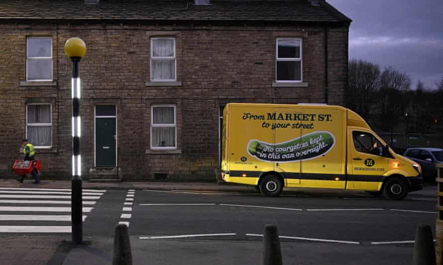 A delivery lorry which had all the Morrisons markings turned out to be 'outsourced' to Ocado