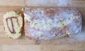 Delia Smith's swiss roll: flavoured with vanilla,