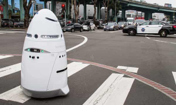 A Knightscope security robot.