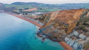 The 4,000-ton rockfall has blocked off the beach between Seatown and Eype Beach