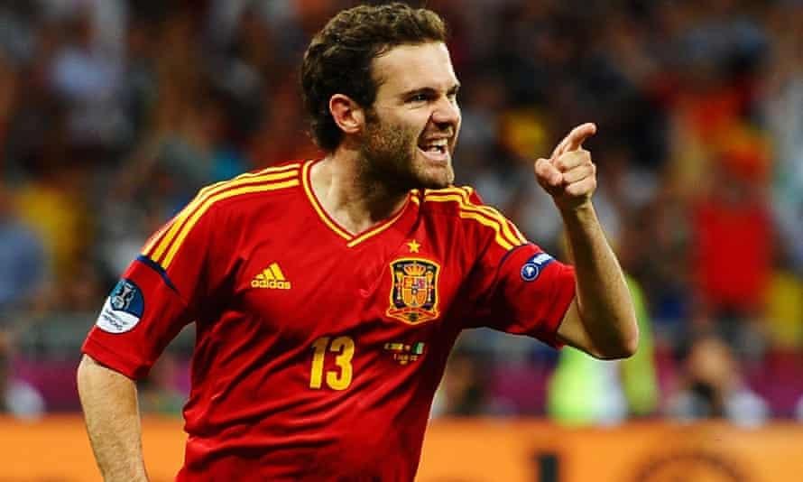 Juan Mata scores for Spain v Italy at Euro 2012 in Kyiv.