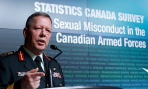 Canada's chief of the defence staff, General Jonathan Vance, speaks during a news conference on the findings of the Statistics Canada survey on sexual misconduct in the Canadian armed forces in Ottawa on Monday.
