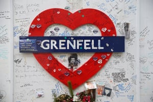 Tributes to victims of the fire