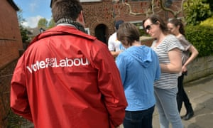 Labour activists canvas in the Wirral South constituency.