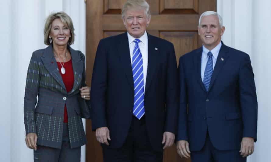 Donald Trump, Mike Pence, Betsy DeVos