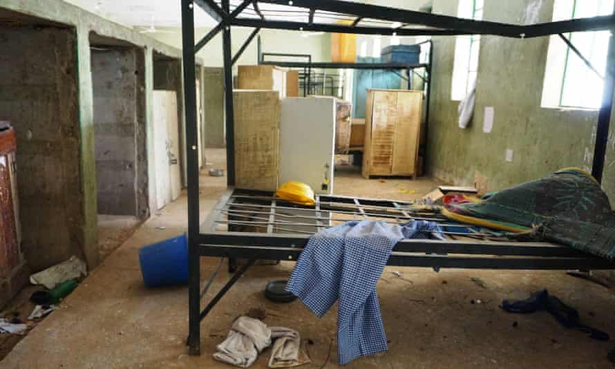 A deserted dormitory at the Government Girls Technical College in Dapchi.
