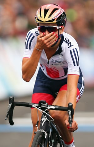 British cyclist Lizzie Armitstead winning the Elite Women's Road Race at the UCI Road World Championships in September 2015 in Richmond, Virginia.