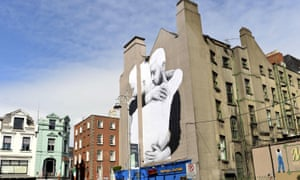 A yes mural on the side of a wall in Dublin in the buildup to the 22 May vote.