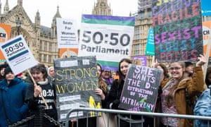 The March4Women in London on 4 March 2018 to celebrate International Women's Day and 100 years since women in the UK first gained the right to vote