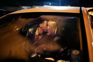 Wilmarie Deetlefs (24) together with her boyfriend Zakithi Buthelezi (27) on a night out in Johannesburg, South Africa
