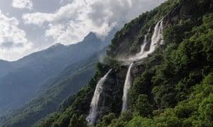 The Acquafraggia Falls, near Borgonuovo di Piuro.