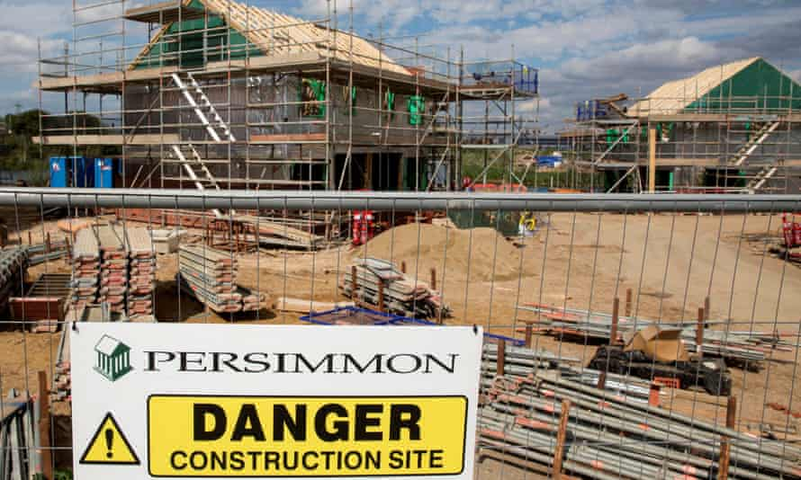 A Persimmon construction site in Dartford. The firm had to pay £7m to compensate unhappy buyers even as the former boss got a £75m bonus.