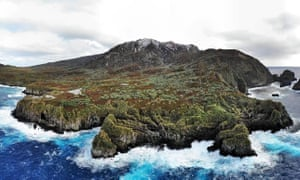 A view of Gough Island taken from the sea