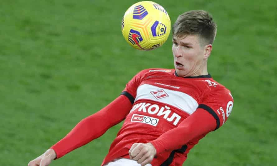 At 6ft 5ins, Aleksandr Sobolev is a huge physical and aerial presence for Spartak Moscow and Russia.