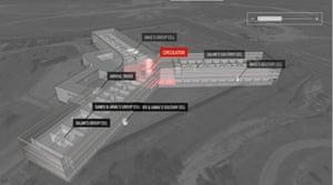 Amnesty's reconstruction of Assad's Saydnaya prison in Syria.