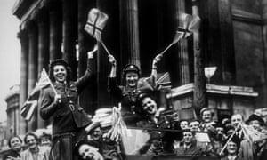 It really was better back then … VE Day in Trafalgar Square, London.