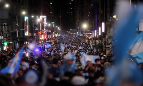Buenos Aires erupts as Argentina beat Brazil in Copa América final – video