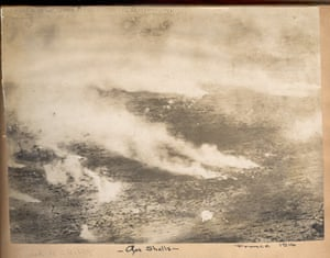 A aerial shot of a gas attack in France, 1916.