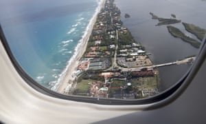 The Mar-a-Lago resort in Palm Beach, from the view of Air Force One.