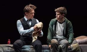 Jamie Parker (Harry Potter) and Sam Clemmett (Albus Potter) in Harry Potter and the Cursed Child.