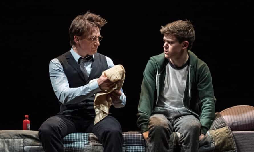 Jamie Parker (Harry Potter) and Sam Clemmett (Albus Potter) in Harry Potter and the Cursed Child.