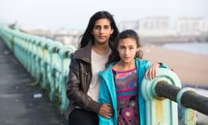 Anoushka Visvalingam with her daughter on Brighton promenade