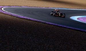 Romain Grosjean of Lotus drives during day four of Formula One testing at Jerez.