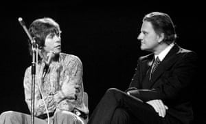 Cliff Richard, left, with Billy Graham in 1973.