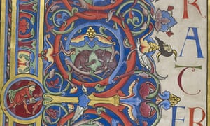Details on the Bury Bible, one of the illuminated manuscripts in the collection of the Parker Library at Corpus Christi College, Cambridge.